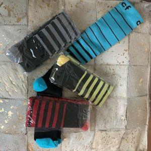 🌝2/$30 DCF Unisex Striped Compression Socks (4-pack) L/XL